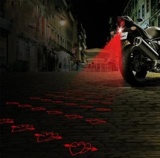 Láser De Corazon Anti -colisión Motos Y Carros Luz De Niebla