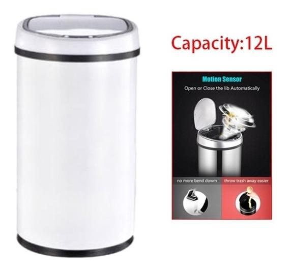 Lixeira Automatica Com Sensor 12 Litros Inox Grande Cabo Usb