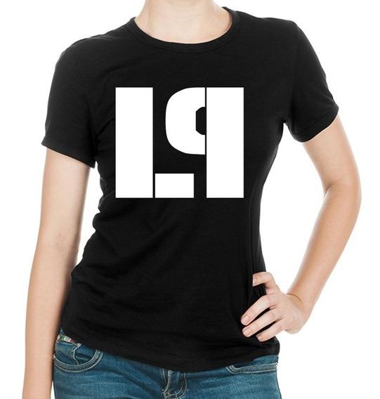 Linda Camiseta Dama Negra Banda Masculina Linkin Park