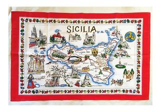 Mantel Chico Italiano Sicilia 59 X 93 Cm Nuevo!