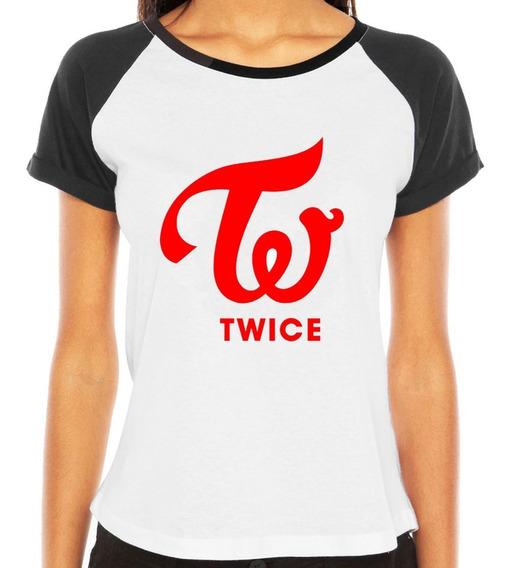 Camisetas Twice Red Logo Camisas K Pop Kpop Top Feminina Blusas Branca Mina Momo Hirai