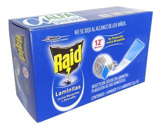 Raid Electrico Mata Moscas Mosquitos Aparato + 12 Laminitas