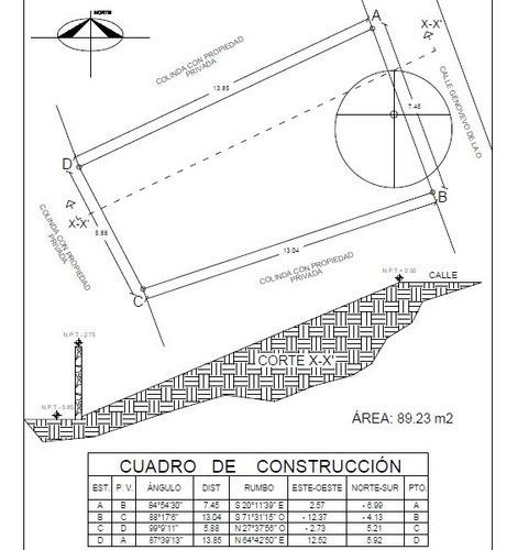 Venta De Terreno Con Proyecto Arquitectónico