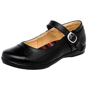 Zapatos Escolar Teens Dama Negro Yondeer Piel Udt T93097