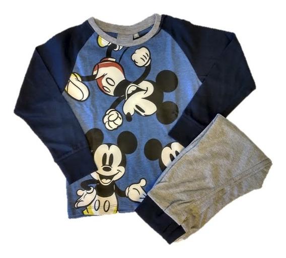 Pijama Manga Larga Pantalon Mickey Mouse Disney Niño