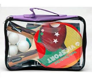 Set De 2 Paletas Ping Pong Estuche Stsb9802