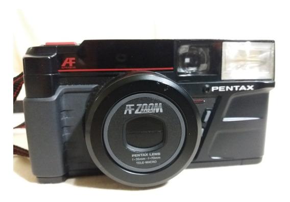 Camera Pentax Af Auto Zoom Macro - Sem Teste - Antiga Analóg