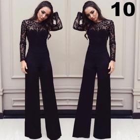 c069890de Macacao Pantalona Renda - Macacão para Feminino no Mercado Livre Brasil
