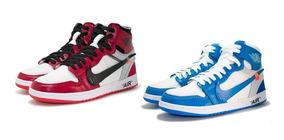 Nike Air Jordan 1 Off White Kit 2 Pares Basquete Top Dos Top