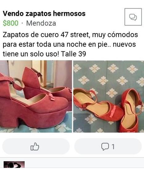 Zapato De Cuero Gamuzado