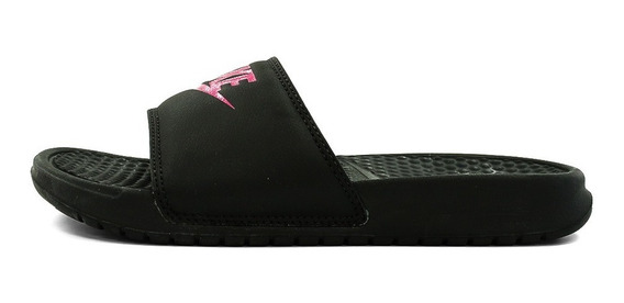 Ojotas Nike Benassi Just Do It Negro Mujer