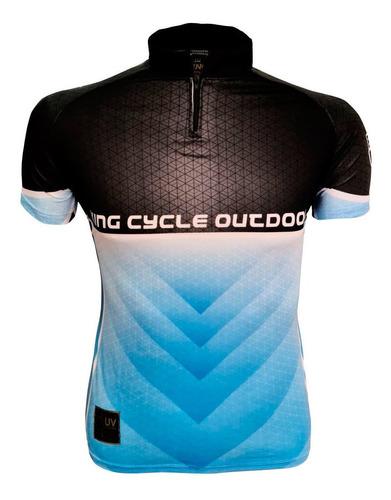 Imagem 1 de 3 de Camiseta De Ciclismo King Brasil 3 Bolsos - Pedal 02