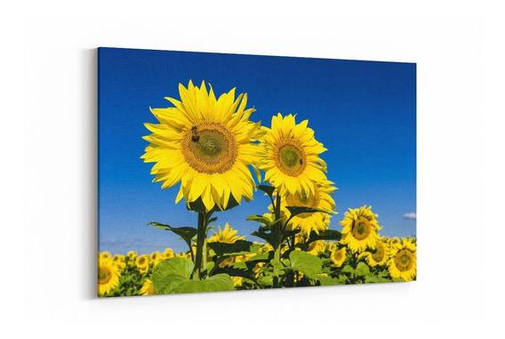 Cuadros Modernos Decorativos 90x60 Cm Con Bastidor Flores