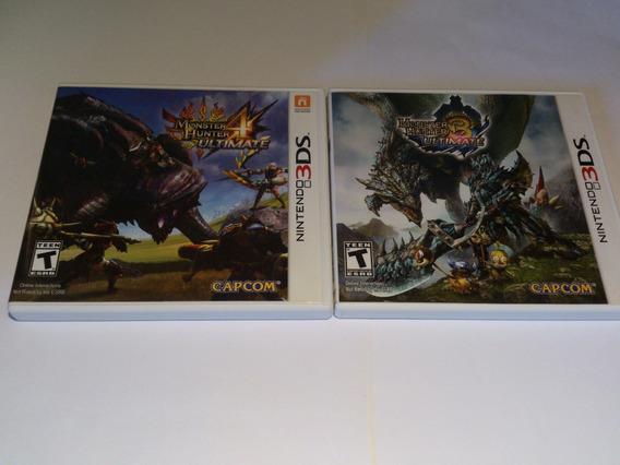 Jogos Monster Hunter 3 E 4 Ultimate - Nintendo 3ds 2ds