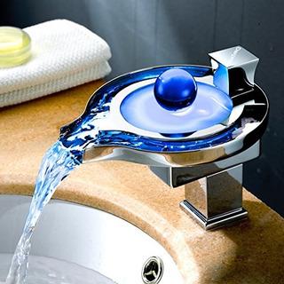 Derpras Grifo Para Lavabo Con Grifo Waterfall Faucet Led 3 C