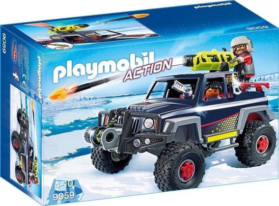 Playmobil Piratas Do Gelo Com Jipe 9059 Sunny