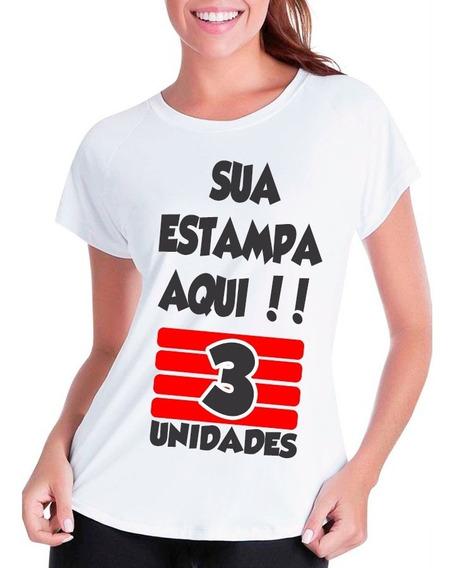 Kit 3 Camisetas Personalizada Com Sua Estampa Foto Imagem