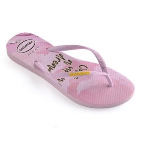 c11f2a3800 Sandalia Chinelo Slim Princesas 4135045 -havaianas - Rosa Qu