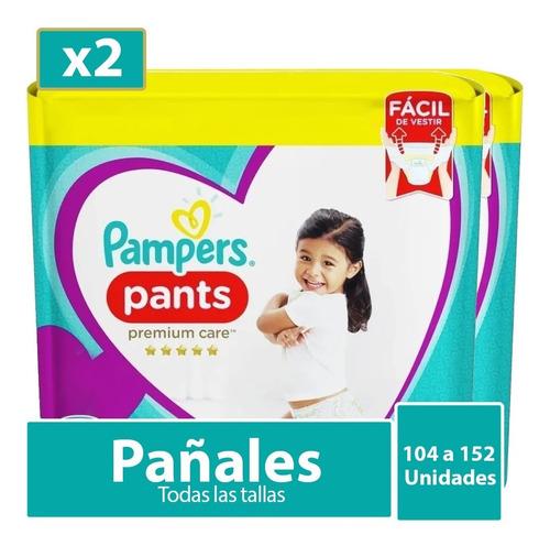 Imagen 1 de 10 de 2 Paquetes De Pañales Pampers Pants Care Todas Las Tallas