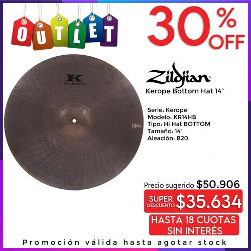Zildjian K Kerope Hi Hat 14 Solo Bottom Nuevo Envio Outlet