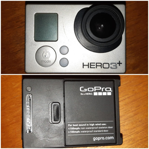 Gopro Hero3+ Silver Edition Com Acessórios + Sd De 32 Gb