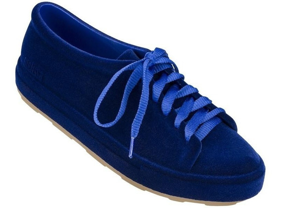 Melissa Be Flocked A Azul Flocado 39/40 Tênis Original Novo