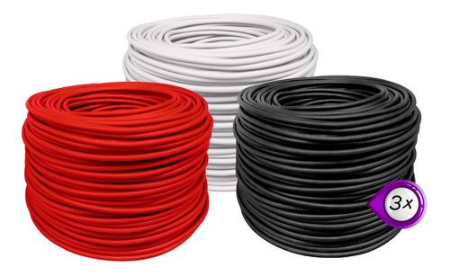 Imagen 1 de 5 de Pack Con 3 Rollos Cable Electrico Calibre 8 Thw 100m