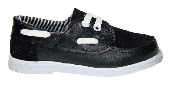 Zapato Nautico Infantil Mvd Negro