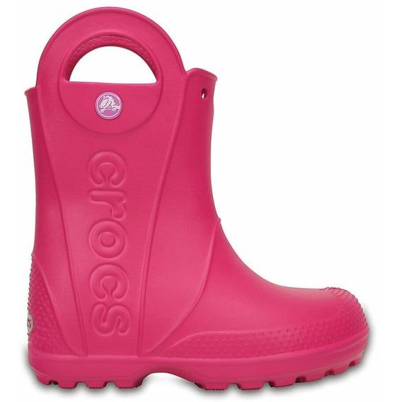 Bota De Lluvia Crocs Handle It Rain Kids C12803 C6x0 Fucsia