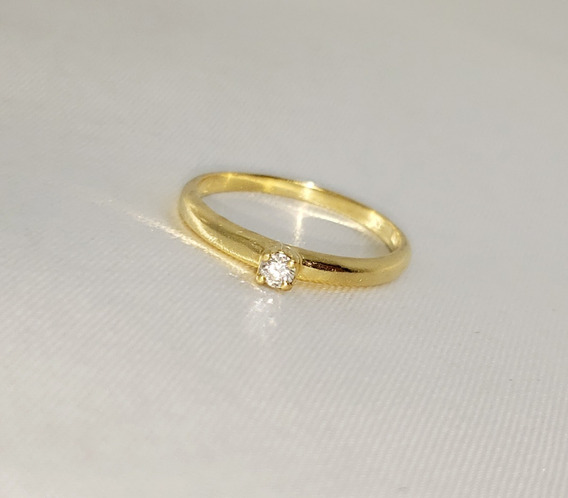Anel Solitário Hstern Antares Em Ouro Amarelo 18k Diamante