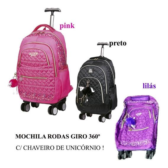 Mochilete Feminina (g) Escola 4 Roda 360 (tipo Ch) Mc3766