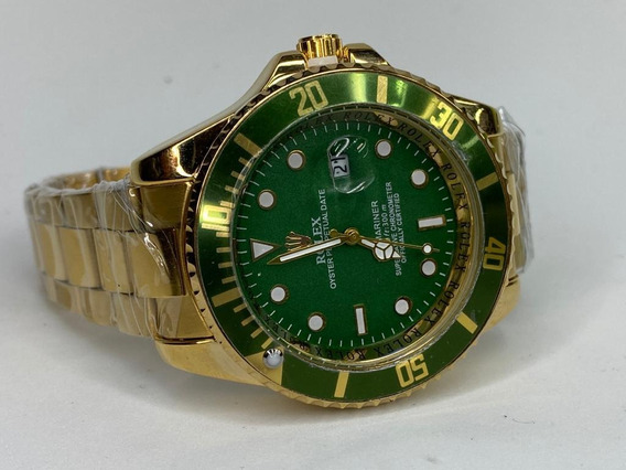 Rolex Dorado Cara Verde Submariner