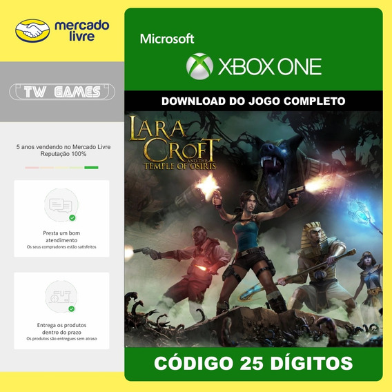 Lara Croft Temple Of Osiris + Season Pass 25 Digito Xbox One