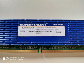 Memória Ram 2gb Desktop Super Talent Ddr2 800