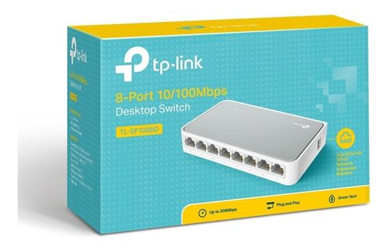 Switch 8 Portas Tp-link Tl-sf1008d 10/100mbps Original +nfe