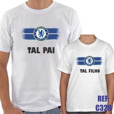 Kit 2 Camisas Tal Pai Tal Filho Chelsea Futebol Esporte 94869dbf4bb3a