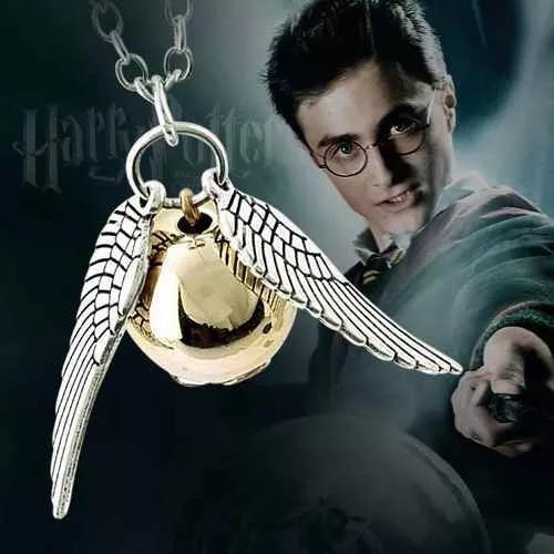 Colar Pomo De Ouro Do Filme Harry Potter Prata Ou Bronze