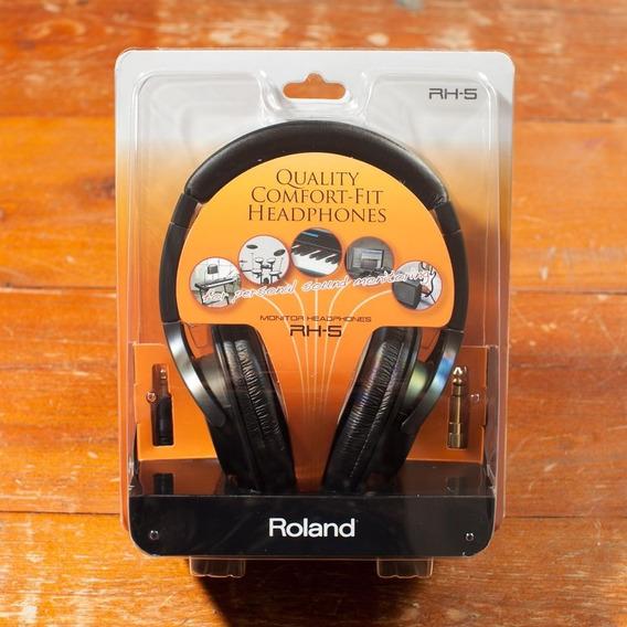 Fone De Ouvido Roland Rh5 Teclado Bateria Eletrônica Dj .