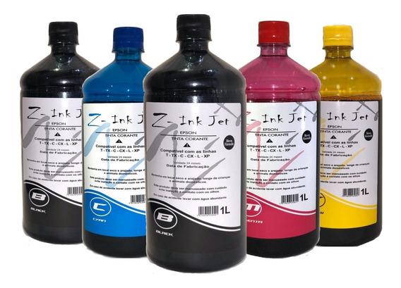 5 Litros Refil De Tinta Impressora L455 L380 L395 L120 L375