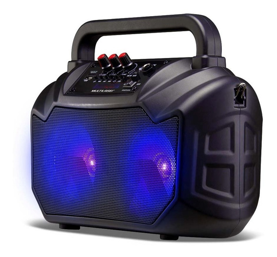 Caixa De Som Amplificadora Portátil Bt/sd/usb/p2/mic - Sp289