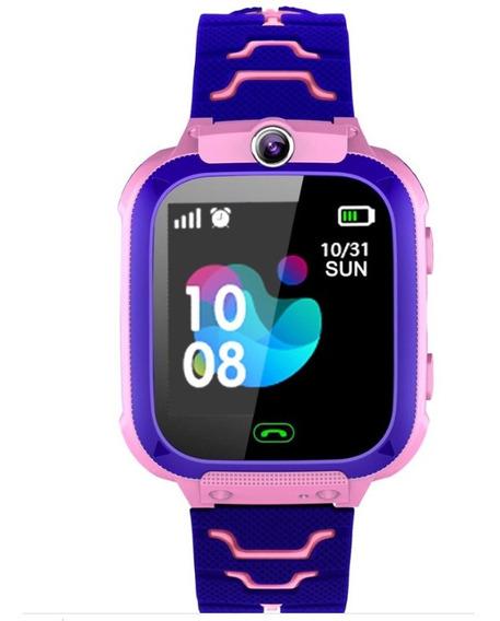 Relógio Infantil Rastreador Localizador C/câmera - Rosa