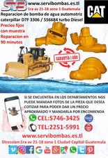 Bomba De Agua Caterpillar D7f Turbo Diesel Guatemala