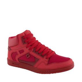 Tenis Casual Rojo Suela Confort Skate Paro N020 Urb 183306