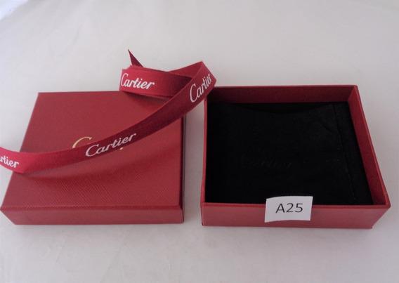 Cartier Caja Original C/ Paño Negro Fotos Reales # A25