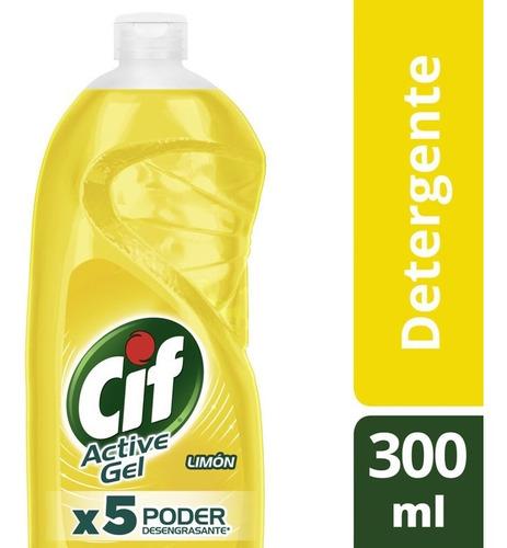 Cif Active Gel Detergente Lavavajilla Limón 300ml