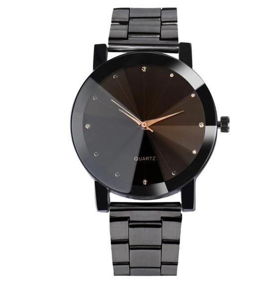 Relógio Unissex Preto Lançamento - Promoção