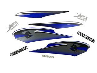 Kit Faixa Jogo Adesivo Suzuki Yes 2011 Azul