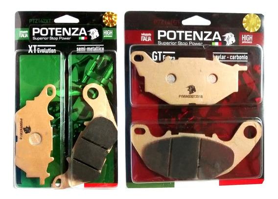 Kit Pastilha Freio Yamaha Mt 03 R 3 Abs 2017-2018 Potenza