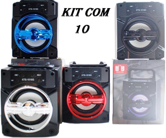 Kit 10 Caixa De Som Kts-1018 Revenda Lojas Atacado Oferta