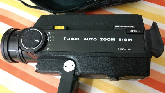 Filmadora Super 8 Mm Canon Auto Zoom 318 M Funcionando